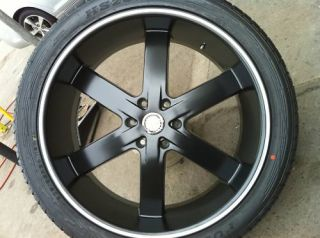 22 Black Rims Wheels Tires 6x139 Yukon Armada Avalanche Escalade