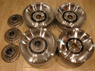 Lincoln Mark IV Continental OEM 15 Aluminum GT Wheels Rims Nicr th NOS