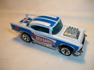 Hot Wheels 57 Chevy White Paint Loose Exposed Engine