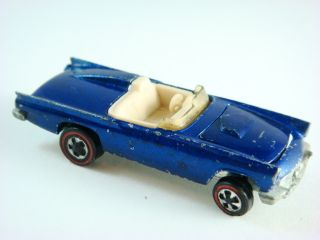 1969 Hot Wheels Classic 57 T Bird Redline 6252 Blue