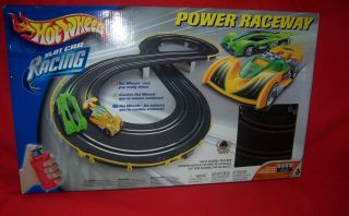 HOT WHEELS SLOT CAR RACING POWER RACEWAY   track cars included NEVER