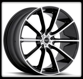RUFF RACING R943 BLACK MACHINED CORVETTE MAXIMA ACCORD XB WHEELS RIMS