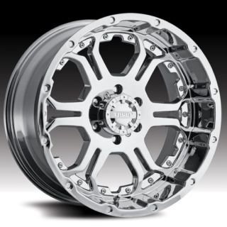 ALLOY 715C RECOIL CHROME RIMS & 325/60/18 NITTO TERRA GRAPPLER WHEELS