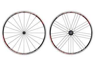 Campagnolo 2012 Khamsin G3 Road Black Red Wheels Pair