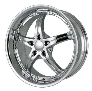 Merceli M1 Chrome Wheels 20x8 5 5x120 Set of 4 20 BMW Camaro