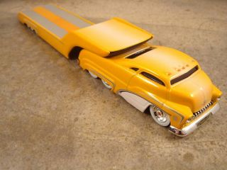 Butterscotch Fade Sledster Flatbed Hot Wheels Drag Bus