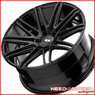 Benz W221 S550 S600 S63 S65 XO Milan Black Concave Wheels Rims