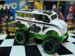 12 Hot Wheels Monster Dairy Delivery Loose 1 64 Scale