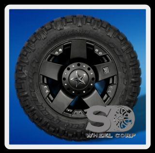 18 Wheels Rims XD Rockstar Matte Black with 285 65 18 Nitto Trail