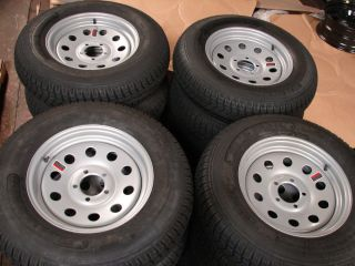 15 Utility Boat Trailer Wheels Tires New Sil Mod 225B