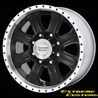 Racing AR321 Fuel Gloss Black Machined 5 6 8 Lug Wheels Rims