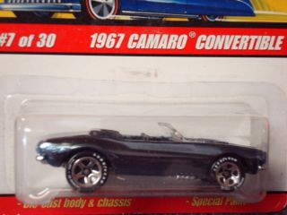Hot Wheels Classics Series 2 67 Camaro Convertible Blk