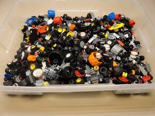 800 Lego Wheels Tires Axles Rims Vehicle Car Truck Lot lbs Pounds