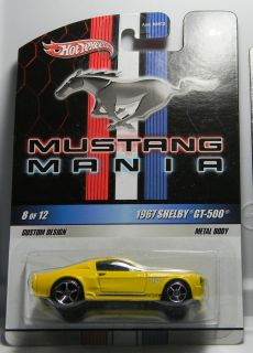 Hot Wheels Mustang Mania 8 1967 Shelby GT 500 DG13