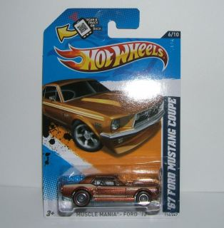 2012 Hot Wheels 116 67 FORD MUSTANG COUPE CUSTOM Super Treasure HUNT w