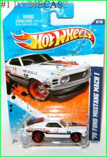 1970 70 Ford Mustang Mach 1 Annapolis Fire Rescue Hot Wheels HW