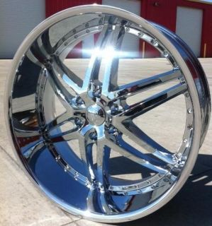 24 inch U2 95 Wheels Rims and Tires 6x139 7 Cadillac Escalade