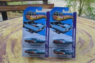 Lots of 4 New 2013 Hot Wheels 72 Ford Gran Torino Sport Super Treasure