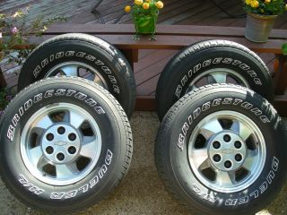 Bridgestone Dueler H L Chevy Wheels and Tires Set 265 70R16