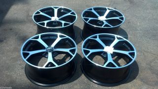 Staggered Corvette Camaro car wheels Black 5x4 75 Set 4 Sport Muscle