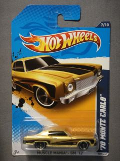 HOT WHEELS MUSCLE MANIA GM 12 70 MONTE CARLO 7 DIECAST CAR NEW MATTEL