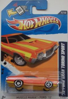 2012 Hot Wheels 72 Ford Gran Torino Sport Col 117  Exclusive