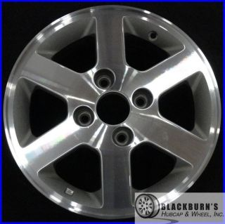 02 Honda Accord 4 Cyl 15 4 Lug Machined Silver Wheel Rim 63819