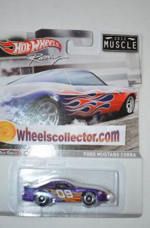 Ford Mustang Cobra Hot Wheels Racing Series Case B Muscle Real Riders