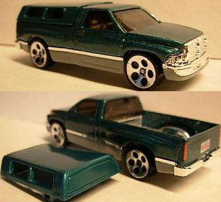 Hotwheels Dodge Ram 1500 Pickup Truck with Removable Bed Cap Diecast 1