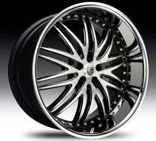 Lexani LX 10 24 Wheels Tires Black Chrome VW Phaeton Touareg Porche