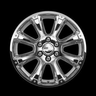 GM 17800916 22 Wheels CK916 Chrome 8 Spoke Chevy Cadillac GMC Set of