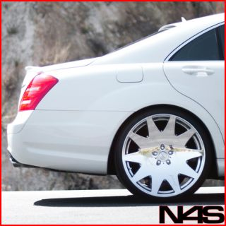 W221 S400 S550 S600 Concave VIP Chrome Staggered Wheels Rims