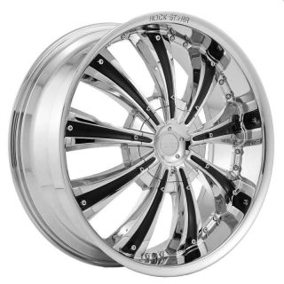 24 inch Rims and Tires Wheels Rockstarr 411 Chrome Impala SS Caprice