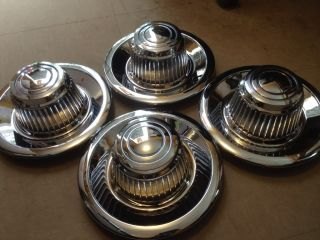 Hub Caps Chevy Corvette Nova Chevelle Rally Wheels Set of 4