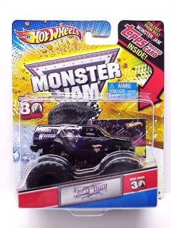 2012 HOT WHEELS MONSTER JAM TRUCK MOHAWK WARRIOR w Topps Trading card