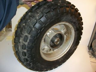 1975 Suzuki RV90 RV 90 Rear Wheel w Hub Dunlop Tire