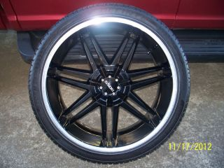 Used Set of Boss 22 inch Wheels 2001 Jeep Grand Cherokee Black with