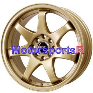 XXR 522 Gold Concave Wheels Rims 06 11 12 Honda Fit 93 94 97 Accord EX