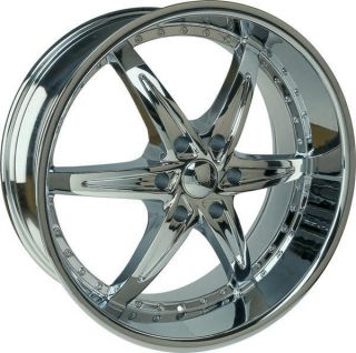 24 Wheels Rims Package Free Tires U2 105 Triple Chrome Yukon