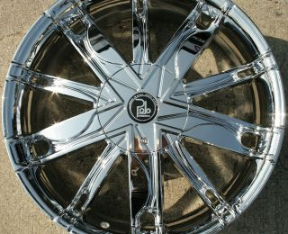 Polo Maze PL1 20 Chrome Rims Wheels Chrysler 300M FWD 98 04 20 x 8 5