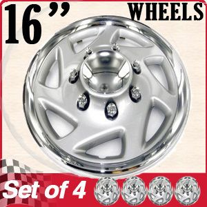 Piece Set Chrome Ford E F 150 350 95 05 Pickup Truck Van 16 Wheel