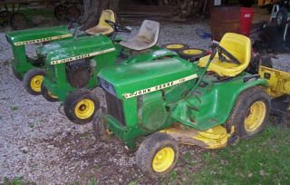 JOHN DEERE 110 112 Lawn Garden Tractors Decks Wheels Tires Plow More