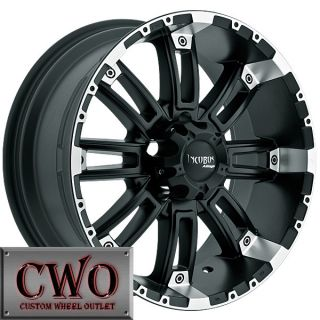 20 Black Crusher Wheels Rims 6x135 6 Lug Ford F150 Expedition Lincoln