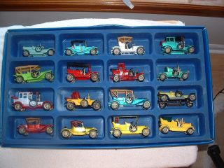 16 Matchbox Yesteryear Cars and Case 1969