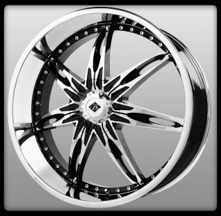 Ice VB10 Nocturno Black Chrome Envoy Charger GS460 Wheels Rims