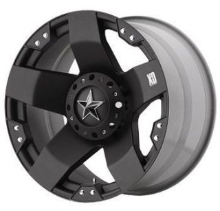 18 inch 18x9 KMC XD Rockstar Black Wheels Rims 5x135