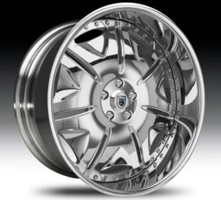 22 asanti AF139 Chrome Wheels Rims 3 Piece