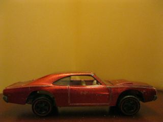 Vintage Hot Wheels Red Line Custom Dodge Charger with White Interior