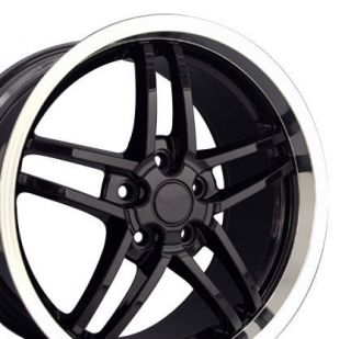 18 Rim Fits Corvette C6 Z06 Deep Black Wheel 18x10 5