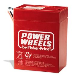 Power Wheels Fisher Price 6 Volt Battery Red Genuine 00801 0712